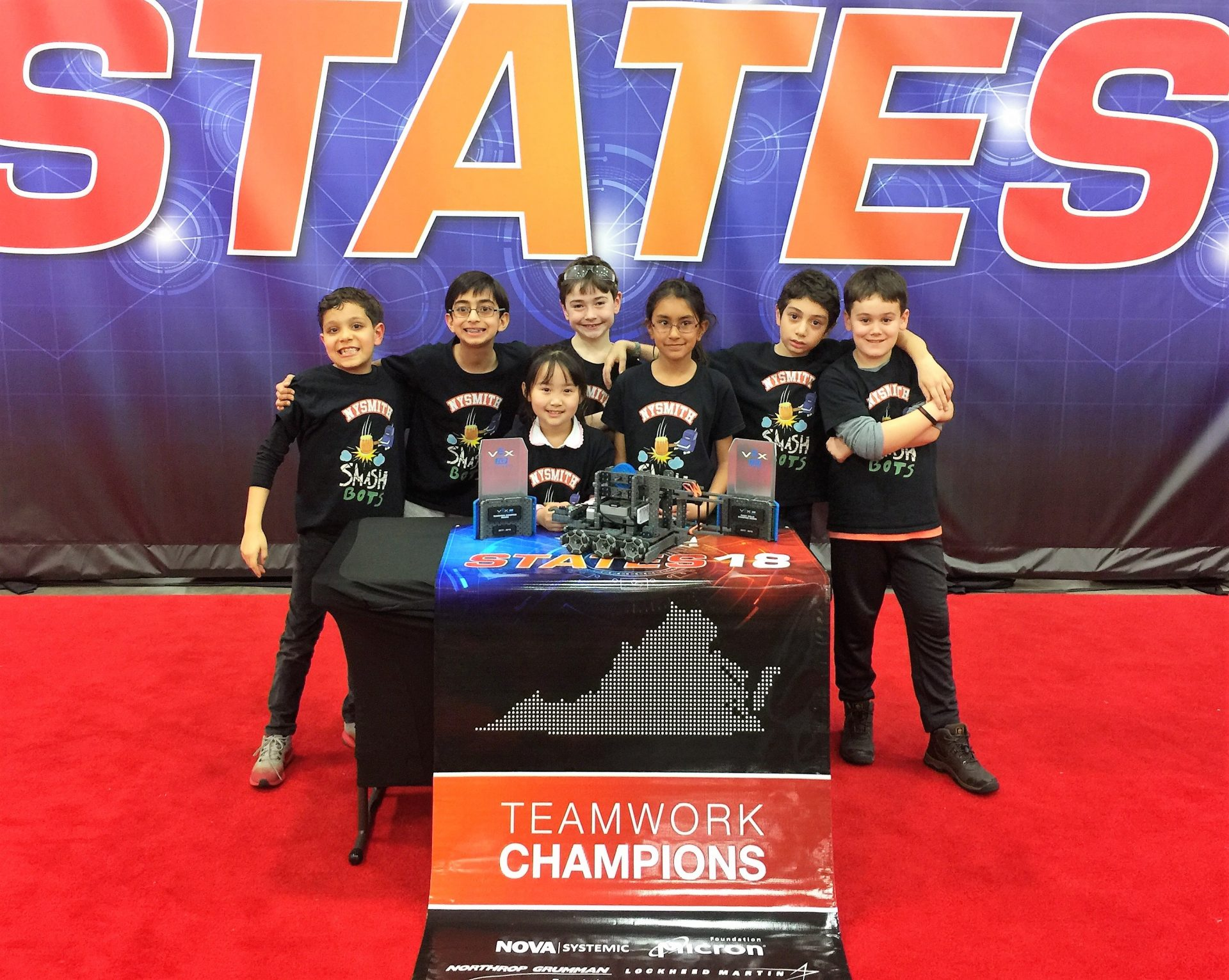 FEB. 2018: SMASHBOTS WIN VEX IQ ROBOTICS CHALLENGE